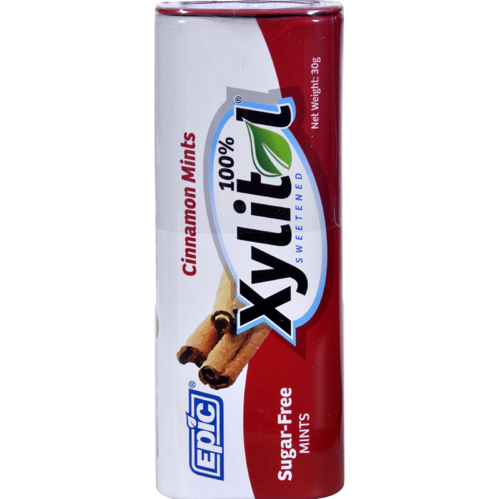 Epic Dental Mints - Cinnamon Xylitol Tin - 60 Count - Case of 10 - Gluten Free - Wheat Free - Vegan - Sugar Free Mints