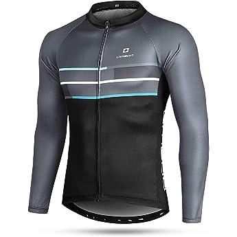 LAMEDA Camiseta Maillot Ciclismo Térmica Ligera Cómoda Transpirable Hombre con Manga Larga, Jersey Bicicleta MTB Ciclista para Entretiempo Y Invierno(M): Amazon.es: Deportes y aire libre