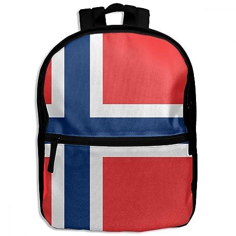 ChunLei Mochila Escolar Infantil Bandera de Noruega Moda Niños Mochila de Viaje Estudiantes Mochilas Niñas Libro