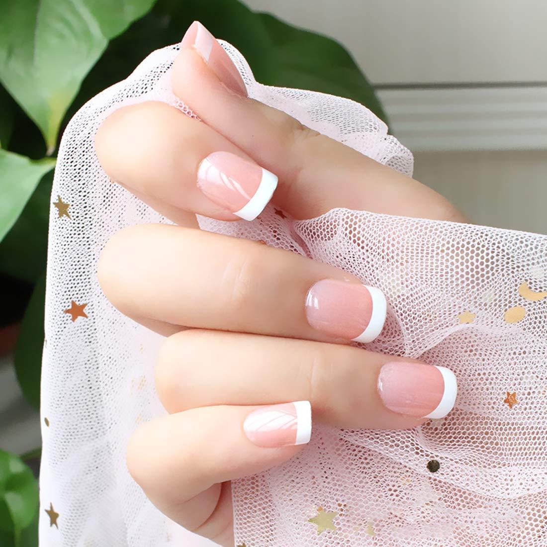 Amazon.com: 120 piezas uñas falsas, kit de uñas acrílicas ...