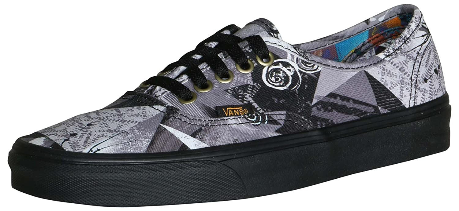 Vans Authentic B07C54Z38R 13.5 B(M) US Women/12 D(M) US Men|Abstract/Black