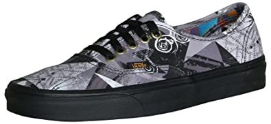 Vans Authentic Abstract Multi Black Men s Classic Skate Shoes Size ... 6e5db0137