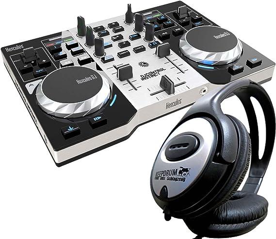 Hercules DJ Control Instinct S Serie de 2 Deck controlador + Auriculares Keepdrum: Amazon.es: Instrumentos musicales
