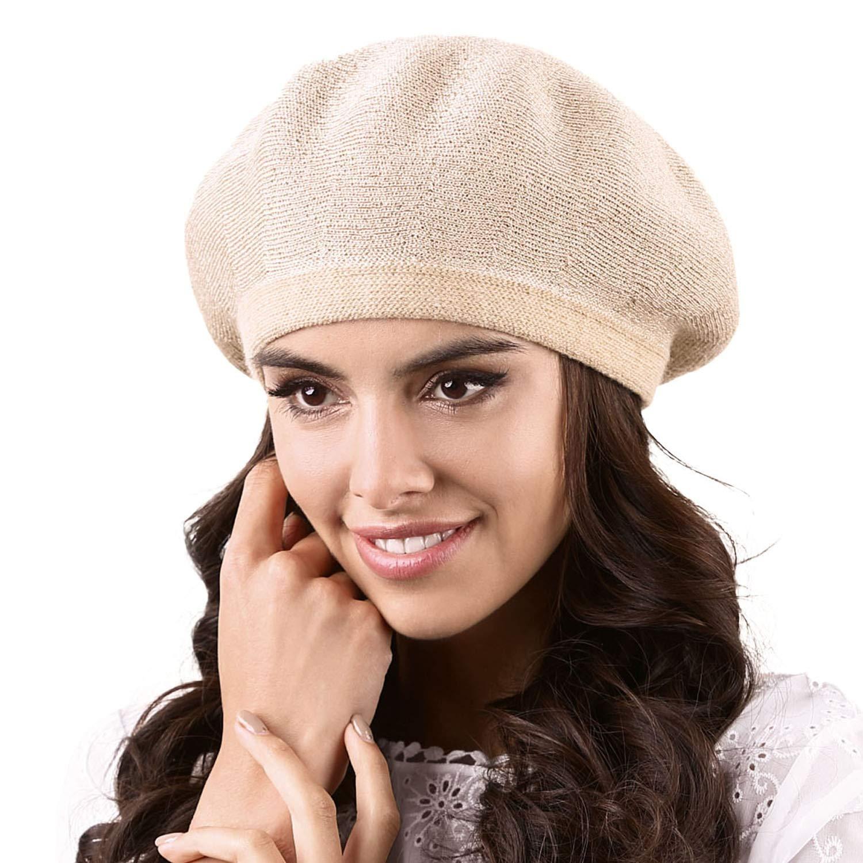 Kamea Smooth Woolen Women's Beret Ciampino Beige One Size