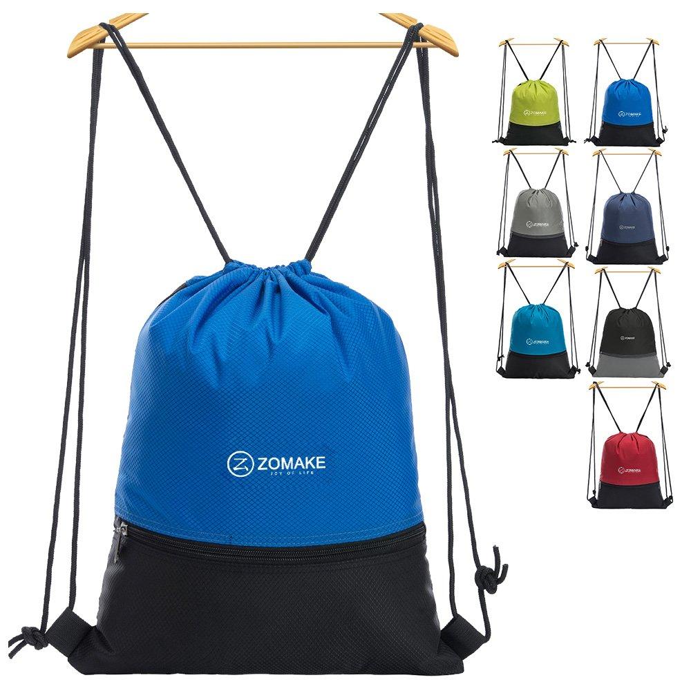 Drawstring Bag - String Backpack Sackpack Women Sport Gym Sack Dark Blue ZOMAKE