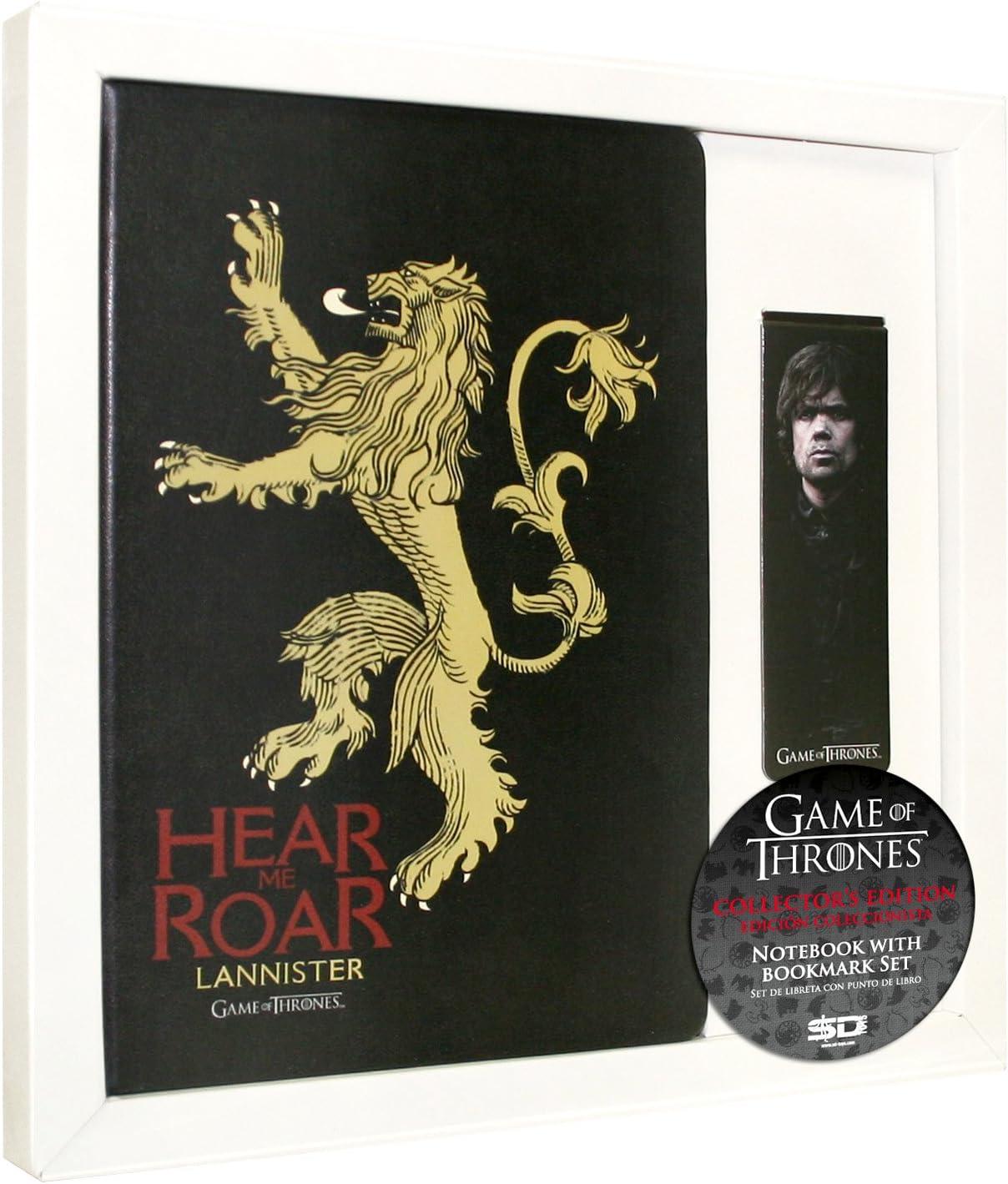 SD toys - Game of Thrones, Lannister, Set libreta y Punto de Libro (SDTHBO02077): Amazon.es: Juguetes y juegos