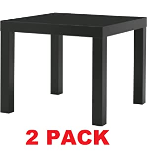ikea table end side black 2 pack lack - Sofa Table Ikea