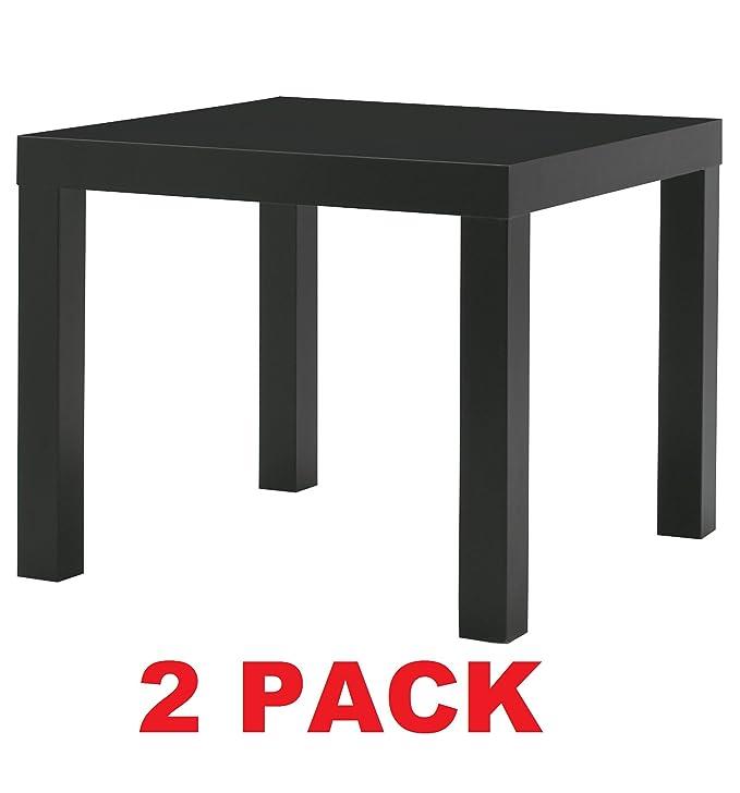 Amazon.com: IKEA mesa Final Lado Negro (2 unidades) la falta ...