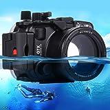 Boîtier de caméra étanche pour la plongée - 40m de profondeur - Convient pour Canon G7 X, G7 X Mark II / Panasonic LUMIX DMC-LX100 / Sony A6000, A6300,A7, A7S, A7R, A7II, A7R II, RX100III, RX100IV - PULUZ, Canon, G7 X