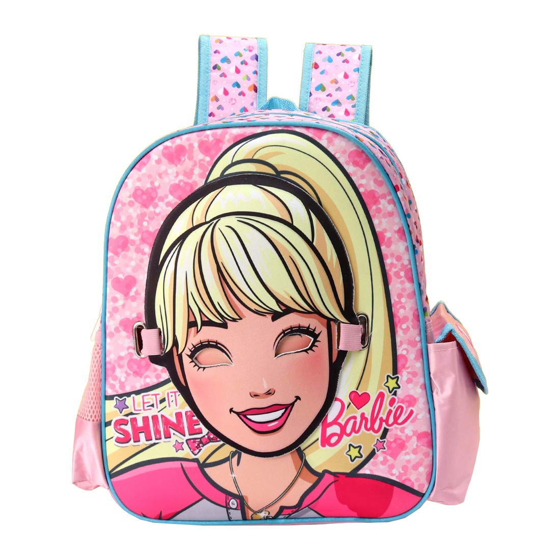 Barbie Polyester 28 cms Multi School Backpack (MBE-MAT564)