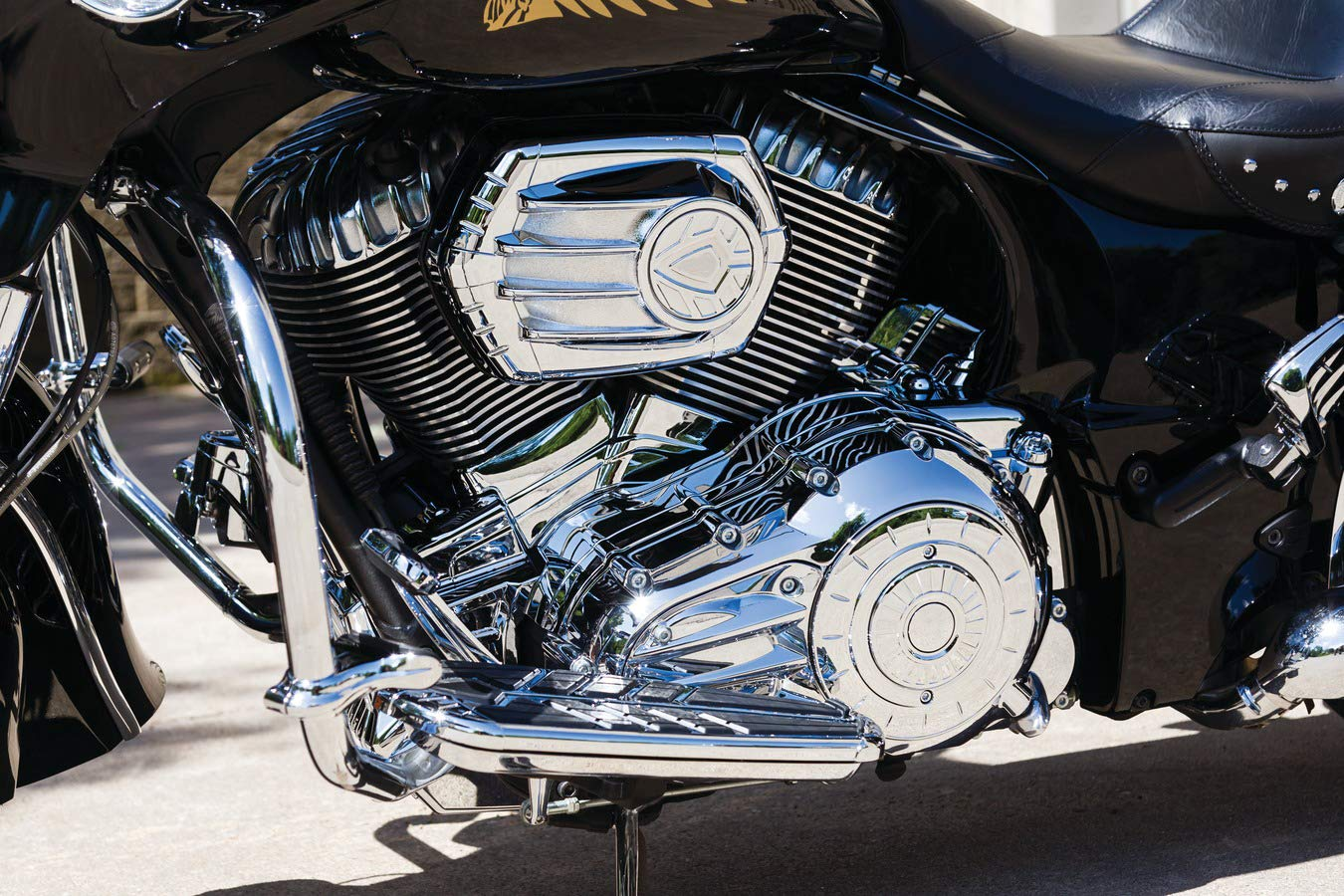 Kuryakyn 5642 Motorcycle Accent Accessory Chrome Starter End Cover for 2014-19 Indian Motorcycles