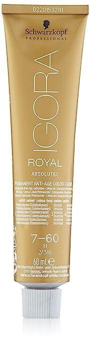 Schwarzkopf Igora Royal Coloración Permanente en Crema para el Cabello 7-60 - 60 ml.