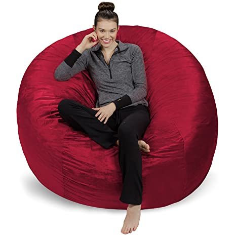 Surprising Sofa Sack Plush Ultra Soft Bean Bags Chairs For Kids Teens Adults Memory Foam Beanless Bag Chair With Microsuede Cover Foam Filled Furniture Andrewgaddart Wooden Chair Designs For Living Room Andrewgaddartcom