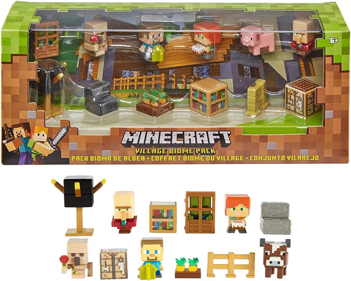 Mattel Minecraft Village Biome Figures Pack: Amazon.es: Juguetes y juegos