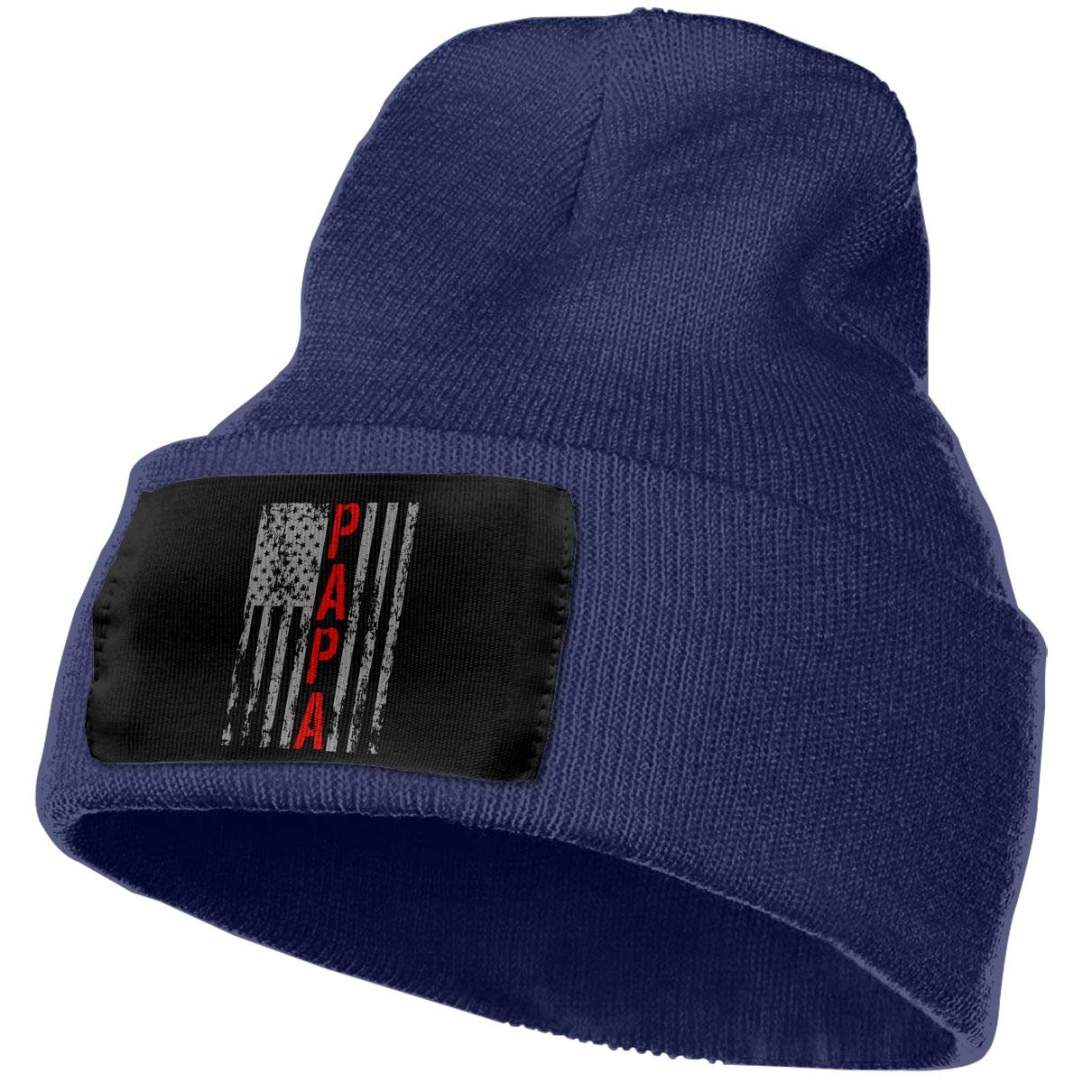 Men /& Women USA PAPA Retro Vintage Flag Outdoor Warm Knit Beanies Hat Soft Winter Skull Caps