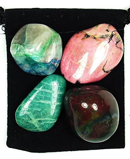 The Magic Is In You Chronic Obstructive Pulmonary Disease (COPD) Tumbled  Crystal Healing Set with Pouch & Description Card - Amazonite, Bloodstone,