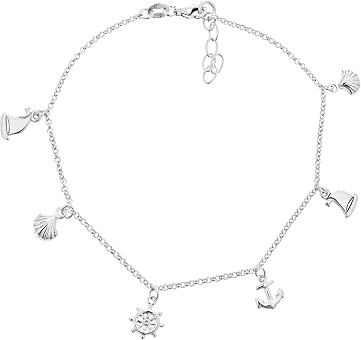 Simple Crab Ankle Bracelet Vacation Fish Sea Life Ocean Summer Surfer Minimalist Jewelry Beach /& Nautical Anklet 925 Sterling Silver