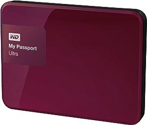 WD 1TB Berry My Passport Ultra Portable External Hard Drive - USB 3.0 - WDBGPU0010BBY-NESN
