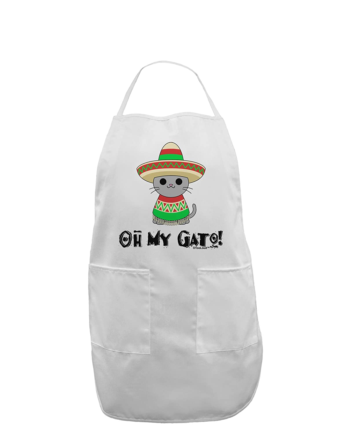 Amazon.com: TooLoud Oh My Gato - Cinco De Mayo Adult Apron - White ...