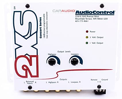 amazon com 2xs audiocontrol 2 channel electronic crossover home