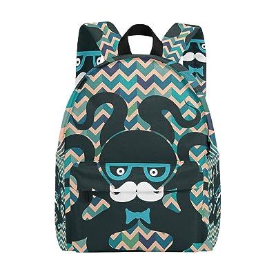 MAPOLO Hipster Octopus Lightweight Travel School Backpack for Women Girls Teens Kids