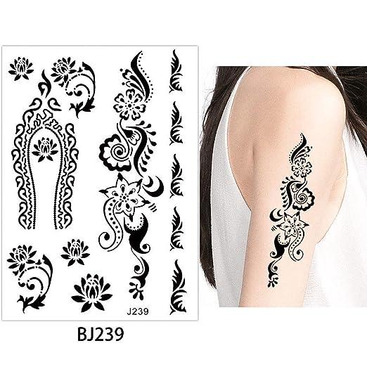 adgkitb 3pcs Rose Flower Lace Tatuaje Temporal a Prueba de Agua ...