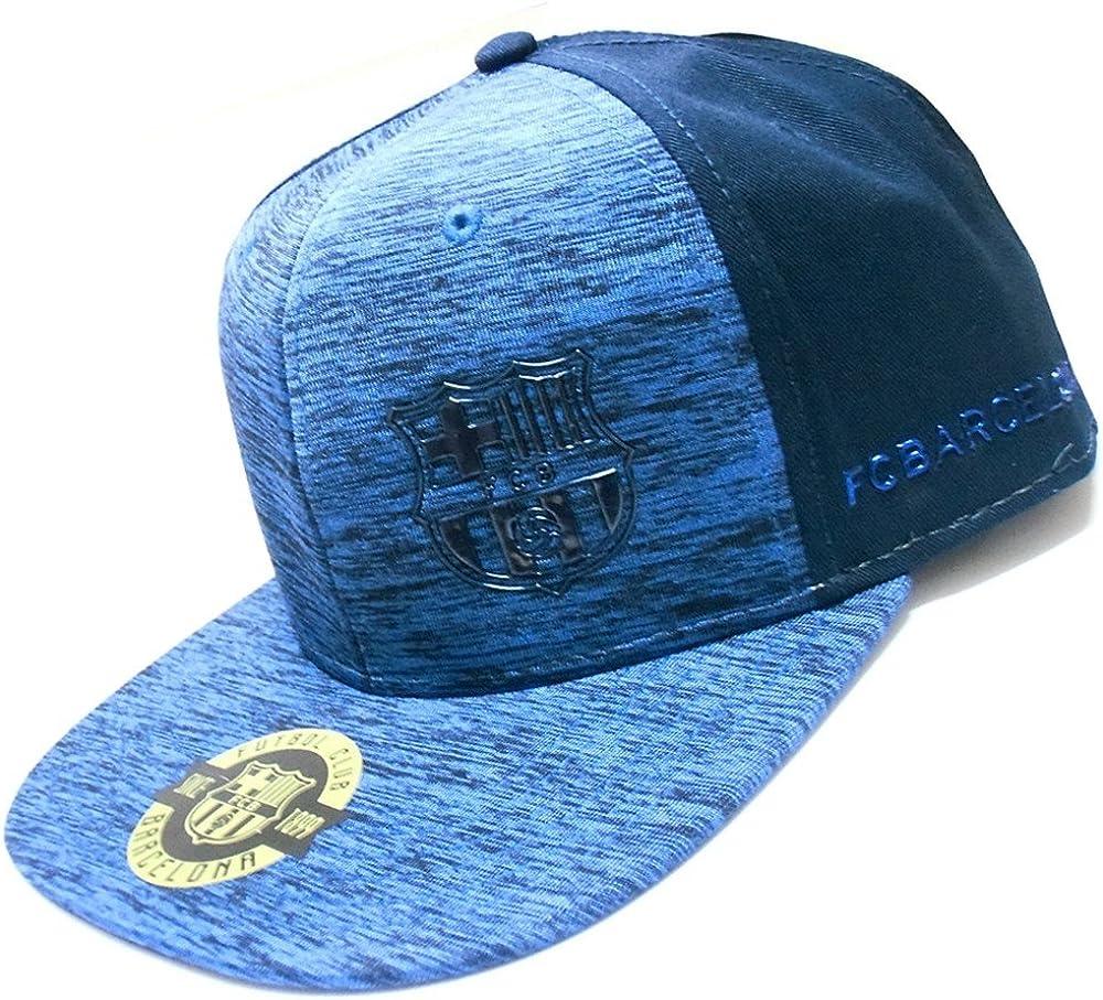 Gorra F.C. Barcelona Rap Melange azul [AB3459]: Amazon.es: Ropa y ...