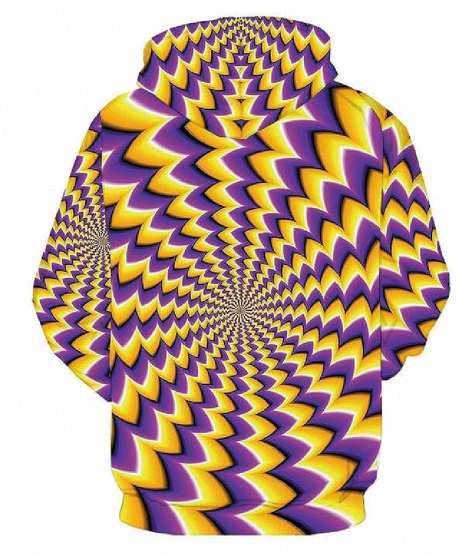 M/&S/&W Mens Pullover Hoodie 3D Print Sweatshirts Long Sleeve Jackets