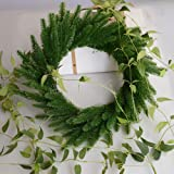Yarssir 25pcs Artificial Pine Green Leaves Needle