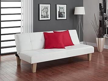 DHP 2011109 Aria Futon, Leather Upholstry, Individual, White