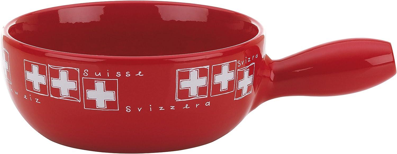 kela 366582 sartén para Fondue de Queso URI de cerámica, Rojo ...