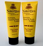 The Naked Bee Nag Champa Blend Hand and Body Lotion 2 Tubes