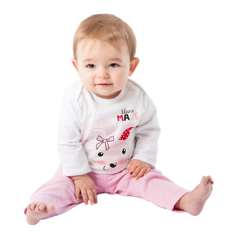 M/ädchen Zweiteiliger Schlafanzuge Baumwolle Lange Nachtw/äsche Baby Pyjama Kleine Maus