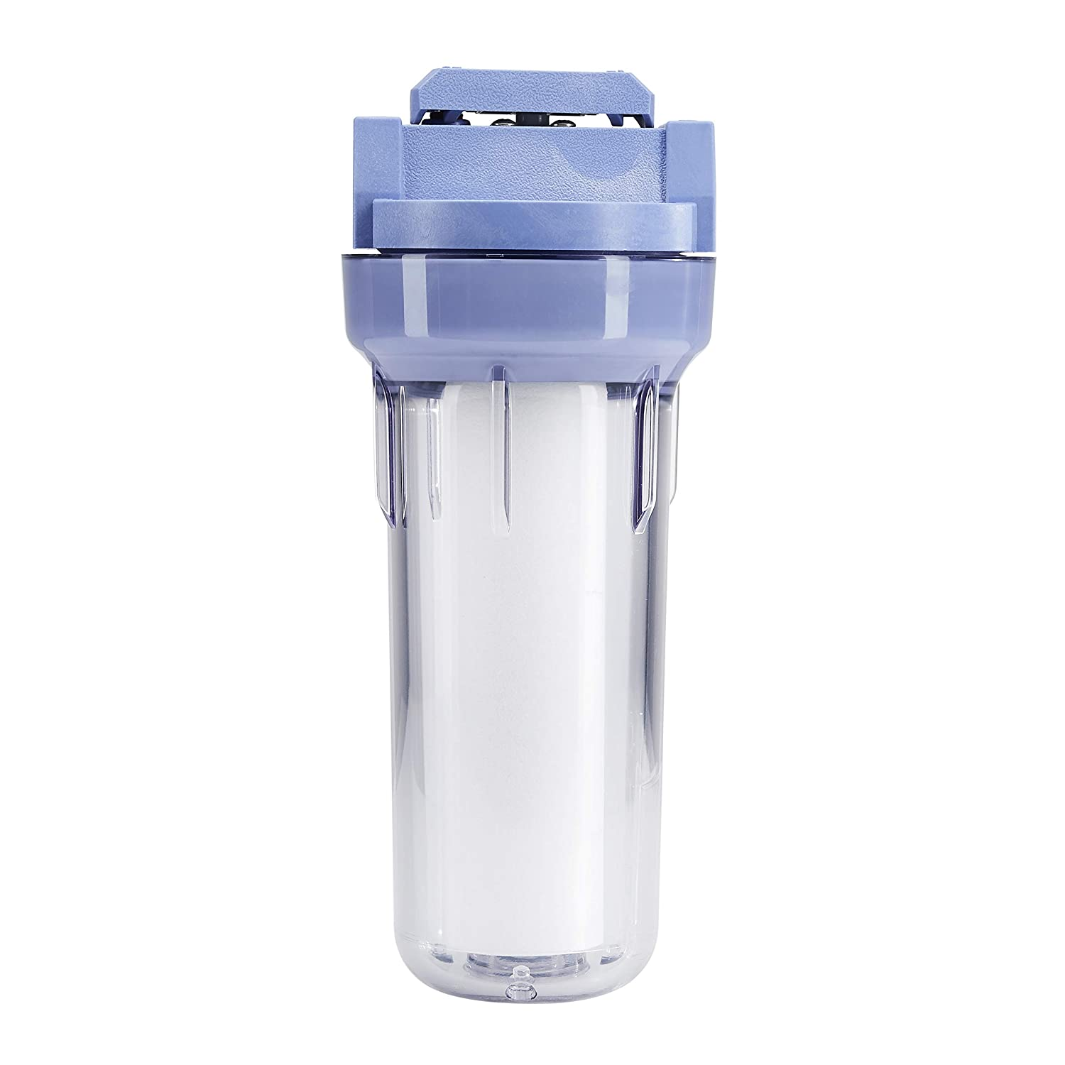 AmazonBasics Standard Duty Sump VIH Water Filter Housing - 3/4 Inch, Blue/Clear