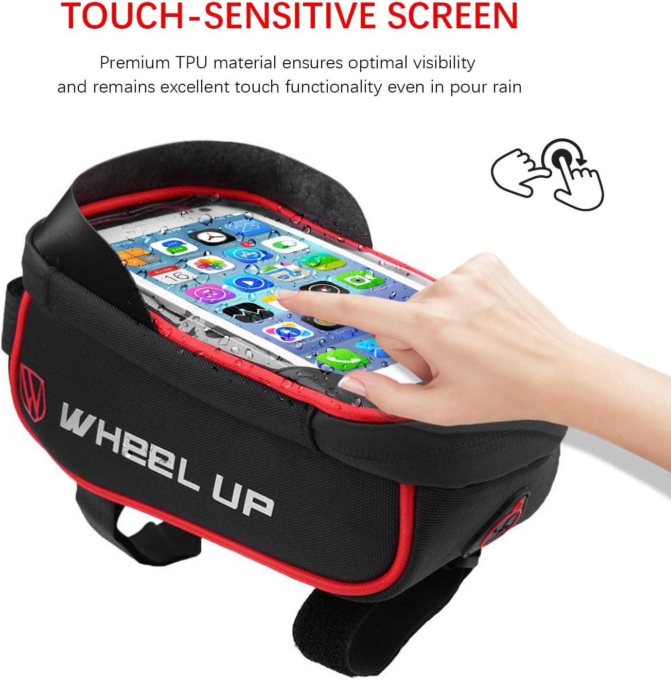 Universal Waterproof Phone Case Bicycle Bag with Waterproof Touch Screen with Sun Visor for Phone Tricodale Bike Handlebar Bag