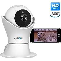 FullHD 1080p WiFi Home Security Camera Pet Camera Wireless IP Indoor Surveillance System…