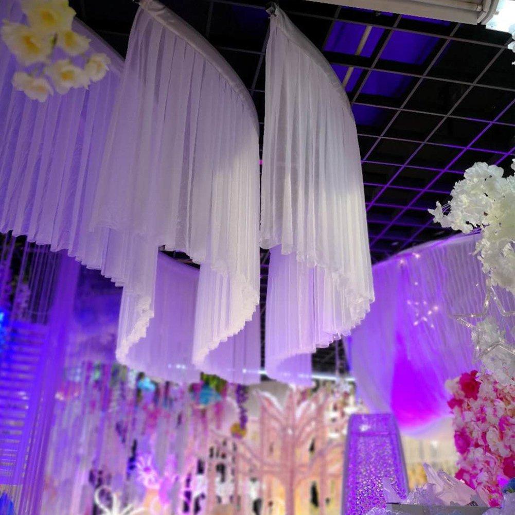 Aktivit/äten 9 Fu/ß Tutu Awayhall-Tischrock Hochwertiger Stoff elegant Heimdekoration lockig flauschig Wei/ß Geburtstagsfeier Karneval leichtes Mullgewebe f/ür die Hochzeit