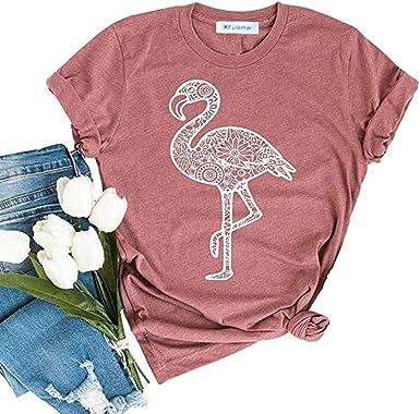 Punk Flamingo Tshirt Women/'s Floral Flamingo Shirt Cute Summer Shirts for Women