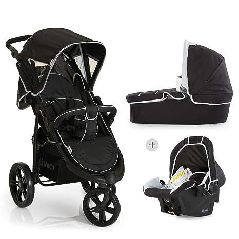 desde nacimiento gris Hauck Malibu 4 Trio Set silla deportiva reclinable sistema de viaje funcional y ligero 3 en 1 plegado compacto y facil Grupo 0 capazo con colchoncito