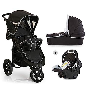 Hauck Viper SLX Trio Set - Carro deportivo 3 ruedas, silla de auto gr. 0, capazo con colchon, respaldo reclinable, ligero, 0 meses a 25 kg, plegable ...