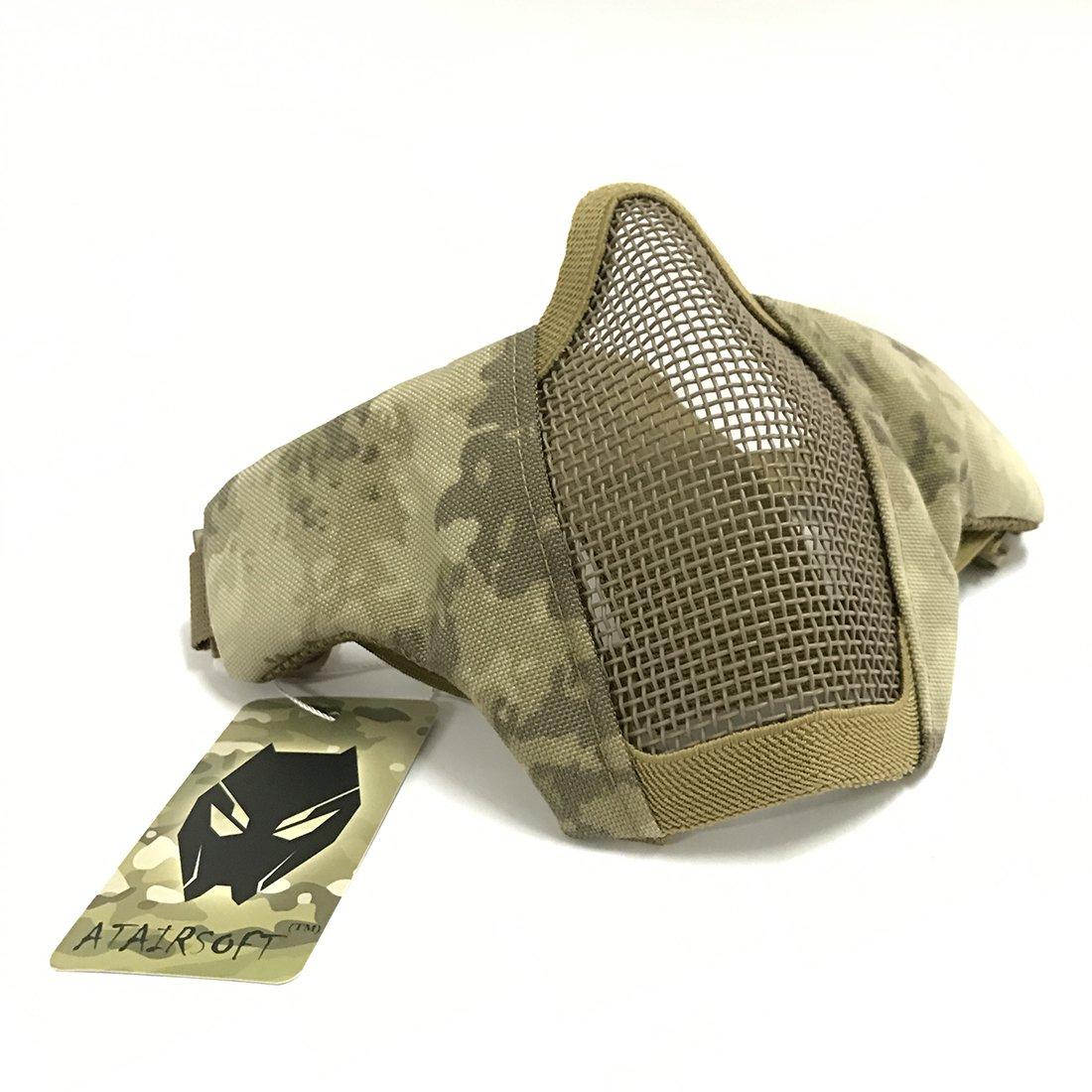 Skull Media m/áscara t/áctica Worldshopping4u con 2 correas para proteger la cara durante el paintballl o airsoft