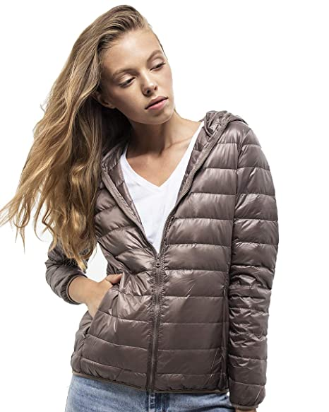 DASTI Down Jacket Women Ultralight Packable Puffer Hooded Coat Lightweight Warm camperas de Mujer