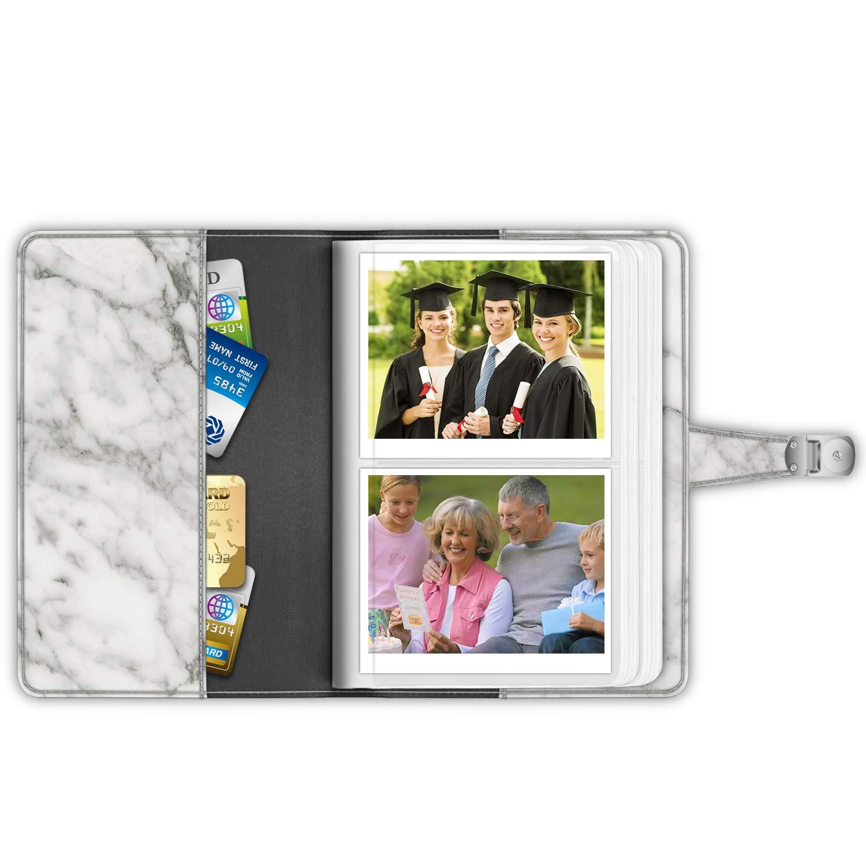Composition Book Compatible with Polaroid POP//Originals 600 Camera 3.5x4.5 Inch Film Album Fintie Wallet Photo Album for Fujifilm Instax Wide 300 Polaroid OneStep 2-64 Pockets Snap Fastener