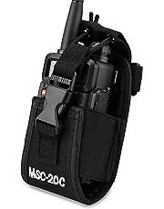 abcGoodefg® 3 in1 Multi-Function Radio Holder, Holster, Case, Pouch Bag For GPS Kenwood/Yaesu/Icom MotorolaGP338+/344/328/ Baofeng BF-666S/777S/888S Two Way Radio Walkie Talkie 20C