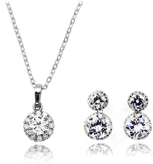 Ocean Fashion shiny crystal Silver necklace