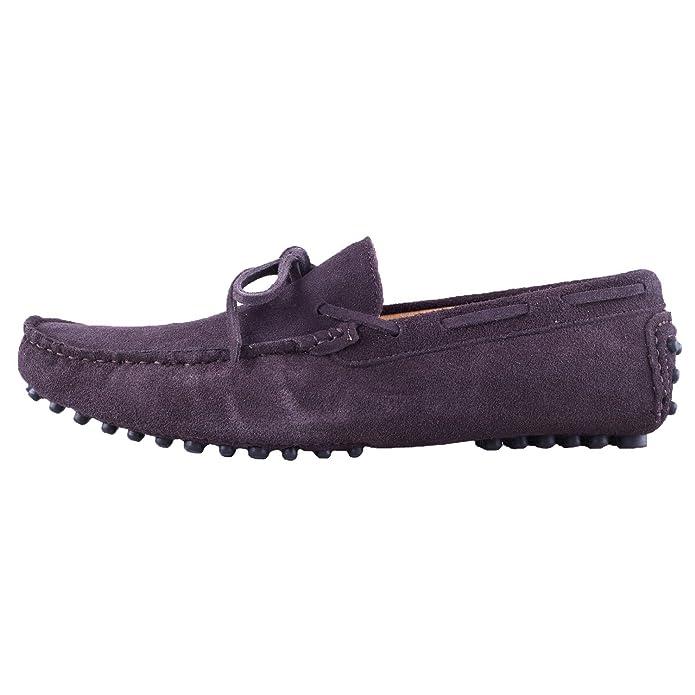 Santimon Hombre Ante Cuero Conducción Para Caminar Mocasines Mocasín Zapatos Café 39: Amazon.es: Zapatos y complementos