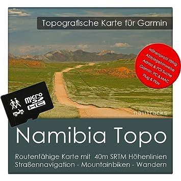 Namibia Garmin tarjeta Topo 4 GB MicroSD. Mapa Topográfico ...