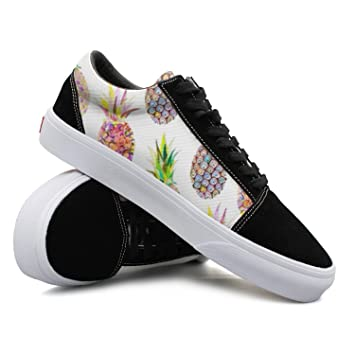 Summer Fruits Pineapple Women Casual Sneakers Shoes Skateboard Slip Fashion Vegan