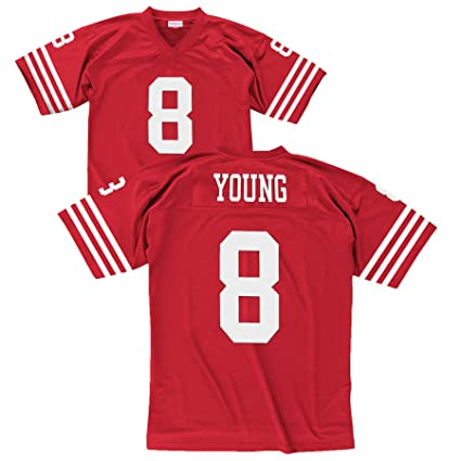 1baf3db3b San Francisco 49ers NFL Mitchell   Ness 1990 Steve Young  8 Replica  Throwback Football Jersey