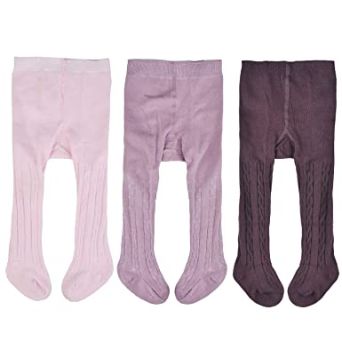 Amazon Epeius Baby Girls Seamless Cable Knit Tights Pack Of 3